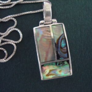 Abalone & Silver Necklace